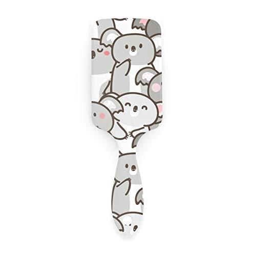 Women Girls Ladies Cartoon Cute Koala Bear Hair Brush Air Cushion Comb Soft Nylon Pins Anti Static Hairbrush