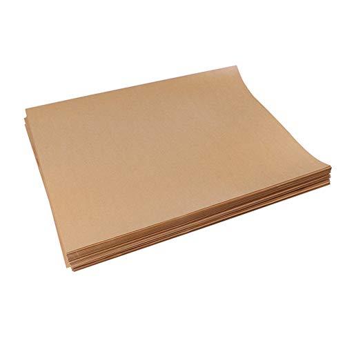 Hogo Parchment Paper Baking Sheets Precutnatural Unbleached Baking Parchment Paper, for Cookie Sheets Pans - Best for Non-Stick Baking,36x36cm(14x14inch)