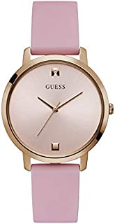 Guess Dress Watch for Women, Stainless Steel Case, Pink Dial, Analog -W1210L3