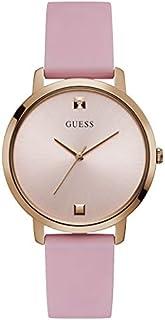 ساعة رسيمة للنساء من جيس بهيكل من الستانلس ستيل، مينا باللون الزهري، انالوج - W1210L3