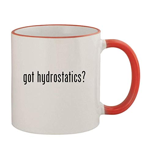 got hydrostatics? - 11oz Ceramic Colored Rim & Handle Coffee Mug, Red