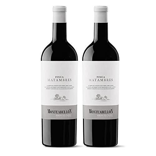 Vino Tinto Finca Matambres de 75 cl - D.O. Ribera del Duero - Bodegas Monteabellon (Pack de 2 botellas)