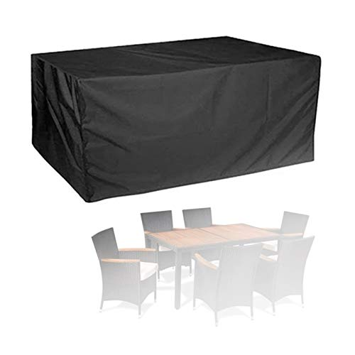 ASPZQ Covers for Garden Furniture Patio Lounge Chair Cover Dust-Proof,Sun Protection,Freeze Protection Outdoor Furniture Cover (Color : Black, Size : 200x160x70cm)