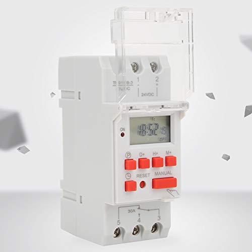 Timer di controllo, plastica facile da usare 24V DC LCD Display digitale Timer On Off per condizionatori d'aria per insegne al neon