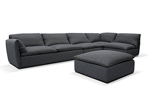 Canapé d'angle Tissu XXL
