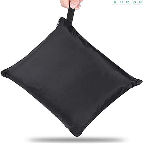420d cubierta del polvo del sofá al aire libre, silla del jardín impermeable, sombrilla, cubierta protectora a prueba de polvo, negro 218*86*76 Cm