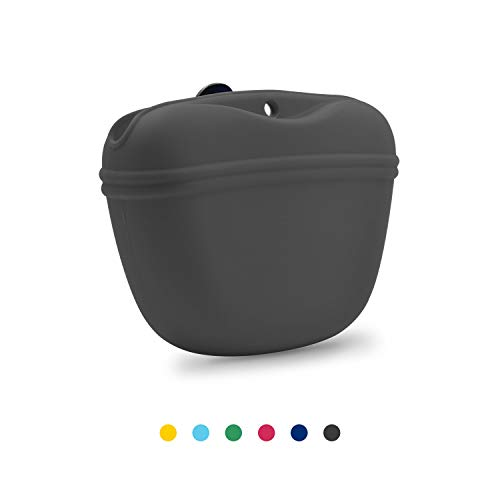 Fantastic Deal! AUDWUD- Silicone Dog Treat Pouch - Clip on Portable Training Container – Convenien...