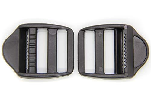 NTS Nähtechnik Klemm-Leiterschnallen Seitenschnalle Stegschnalle Gurtschnalle Rucksackschnalle Tragegurt (10 Schnallen, 25mm)