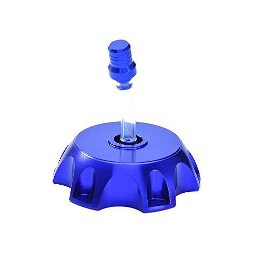 Coperchio del Tappo del Serbatoio del Carburante in Alluminio CNC Tubo Flessibile di Sfiato della Valvola Universale per 50cc 70cc 90cc 110cc 125cc 140cc 150cc 160cc Dirt/Pit Bike, 49,5 MM (Blu)