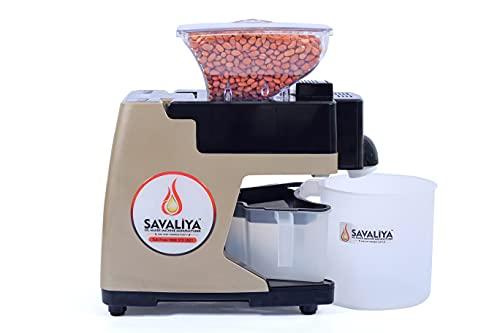 Savaliya Industries SI-801 Automatic Cold Press Oil Maker Machine || Oil Press Machine, Made in India - Brown