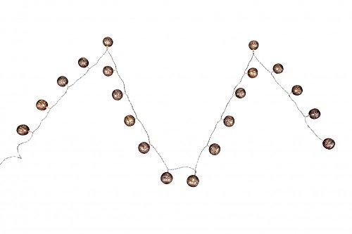 Guirlande lumineuse Noel boules métal argentin cuivre Globo 29957-20 éclairage décoration