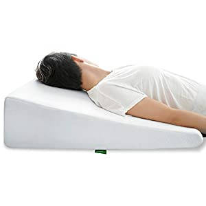 Wedge Pillow for Sleeping by Cushy Form 10 Inch