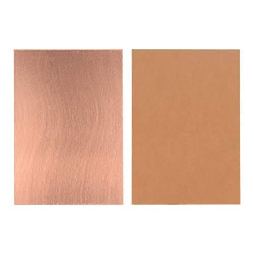 Sourcingmap Laminat, einseitig, kupferbeschichtet, 7 x 10 cm, Braun, 25 Stück