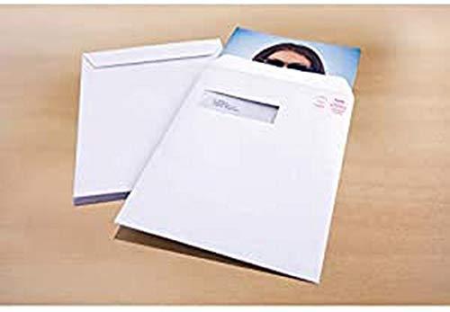 Briefumschlag Raadhuis 229x324 C4 Sichtfenster links Akte gummiert weiss 120gr 250st Fenster 40x110mm