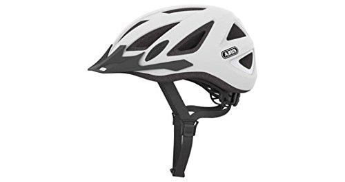 Abus Urban-I Helmet with Integrated LED Taillight, Polar White, Large
