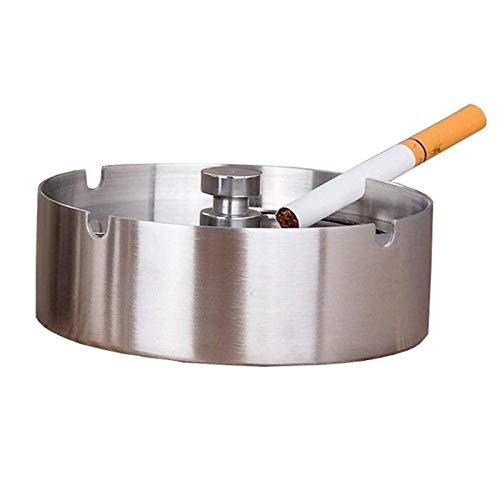 XDYNJYNL Ceniceros a Prueba de Viento para Cigarrillos Accesorios para Fumar para Hierba Juego de ceniceros Redondos de Acero Inoxidable para el hogar, Hotel, Restaurante, Interior, Exterior