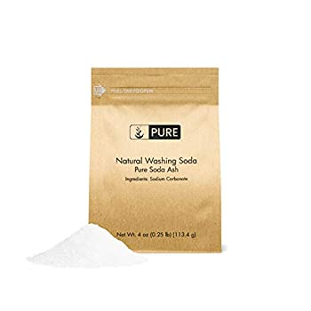PURE Natural Washing Soda  also called Soda Ash or Sodium Carbonate  4oz Eco-Friendly Packaging Multi-Purpose Cleaner Water Softener & Stain-Remover