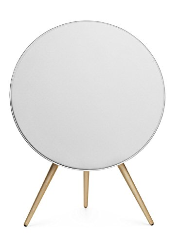 Bang & Olufsen, BeoPlay A9 MK I Weiß, AirPlay/DNLA wireless Lautsprecher inkl. Holzfüße (Buche)