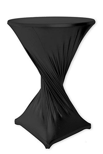Mc-Stoff Stretch Husse für Stehtische Bistrotische Stehtischhusse SCHWARZ 90 cm Outdoor und Indoor Nutzung imprägniert wasserabweisend TischdeckenTischüberzug