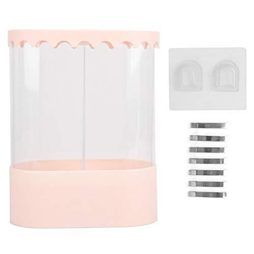 CjnJX-Vases Dispensador de Vasos de Agua Rejilla de Almacenamiento de Vasos Desechables Soporte a Prueba de Polvo para cafés de Oficina en casa Adecuado para diámetro de 5 CM a 7,6 CM(Rosa)