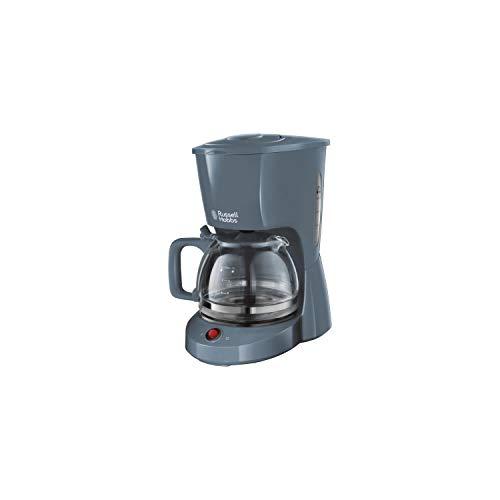 Russell Hobbs 22613-56 Cafetera con filtro de textura de 1,25 l de gran capacidad, gris
