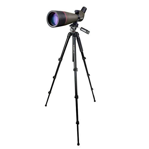Svbony SV13 Telescopio Terrestre Potente 20-60x80 con Trípode Optica FMC Prisma Porro Spotting Scope Ocular Angulado Impermeable Antiniebla Monocular para Observar Aves