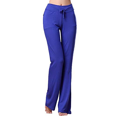 Michelle & A - Pantalones de yoga para mujer, con cordón de ajuste, informal, pantalones rectos, para correr, gimnasio, entrenamiento, jogging