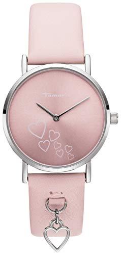 Tamaris Damen Analog Japanisches Quarzwerk Uhr mit Leder Armband TW078