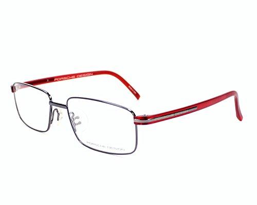 Porsche Design Brillengestelle P8706-C-56 Rechteckig Brillengestelle 56, Silber