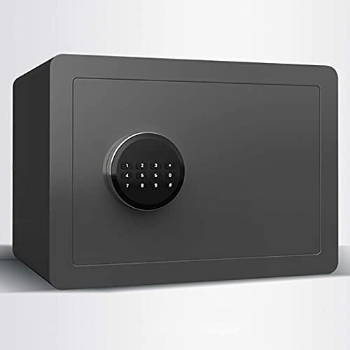 Caja fuerte de seguridad, caja fuerte para el hogar, pequeña caja fuerte con contraseña de huellas dactilares de 25/40 cm, caja fuerte antirrobo para oficina pequeña de acero, armario de pared junto
