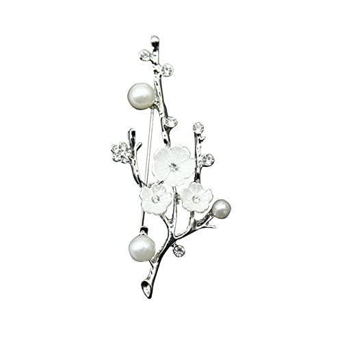DAIHUI Simple Ciruela en forma de broche Pin Accesorios decorativos para mujeres y niñas (color plateado)