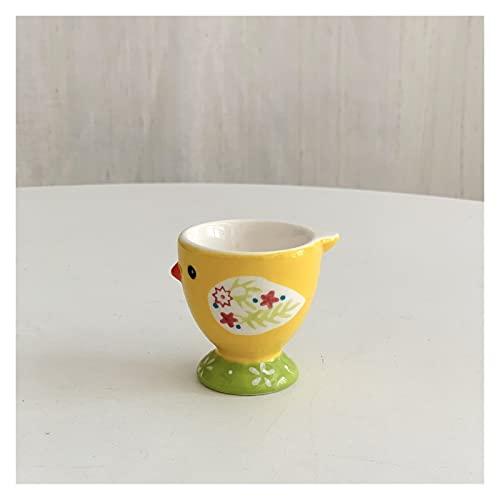 Hueveras Copa de huevo de cerámica lindo animal creativo pintado a mano de cerámica de cerámica bandeja linda linda bandeja de huevo de pollo decoración de la cocina casera (Color : C)