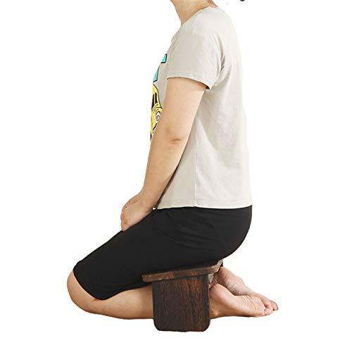 BNVN Meditationsbank Klappbar Reise, Meditation Hocker Yoga Hocker mit rutschfest Pad Holz Gebetsbank Kniehocker für Meditationen, Gebet, Seiza und Kinder