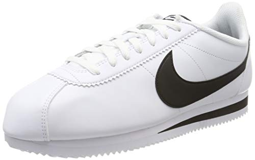 Nike Womens Classic Cortez Leather White/Black/White Casual Shoe 8.5 Women US