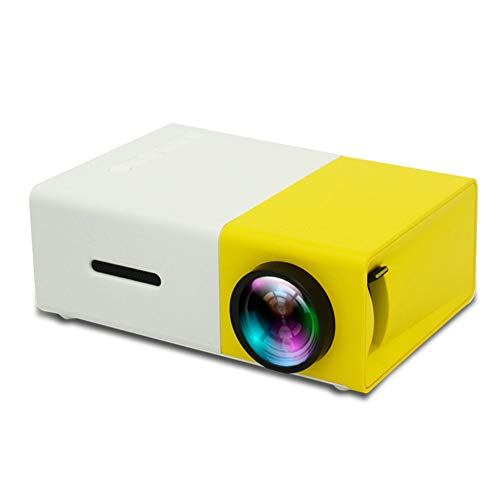 Pillows-RJF Mini Projector, Portable Movie Projector 1080p Supported For Kids Gift, Home Theatre, Video TV Movie, Compatible With Smart Phone/Laptop