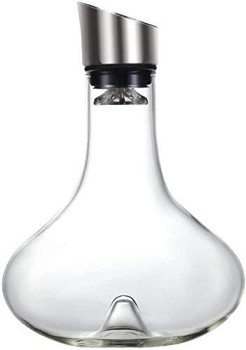 Vasos de Whisky Jarra de Whisky Whisky vino conjunto del respiradero de la jarra con tapa Vertedor, soplado de vidrio, accesorios de vino de lujo for regalo Jarra con tapa de acero inoxidable-aireador