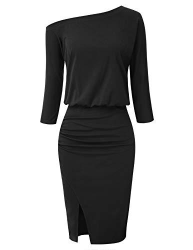 GRACE KARIN Women's Off Shoulder Ruched Bodycon Dress Sheath Party Pencil Dress