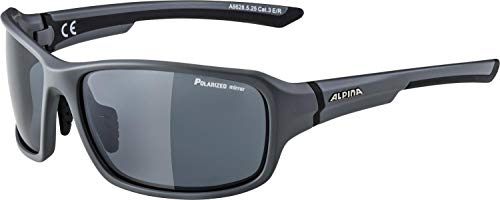 ALPINA Unisex - Erwachsene, LYRON Q Sportbrille, grey matt-black, One size