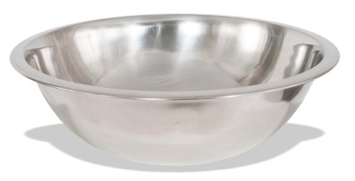 Crestware Commercial Grade, MBP20, 20 Quart Stainless Steel Professional Mixing Bowl, 1 mm Thick (Package of two)