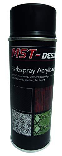 Acryllack I Acryl-Spray I Acryllack Spray I schwarz matt I 400 ml Lack, Sprühlack, Grundlack, Basislack, Haftvermittler I Geeignet für den Wassertransferdruck Spray I WTD watertransferprinting