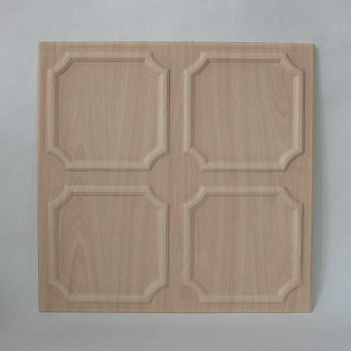 DECOSA Deckenplatten SALZBURG in Holz Optik - 8 Platten = 2 m2 - Deckenpaneele in Ahorn Dekor - Decken Paneele aus Styropor - 50 x 50 cm - B-Ware