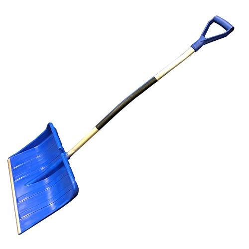 Schneeschieber Blau 49x38cm Schneeschaufel robustem Alu-Stiel/Schiebekante Alu