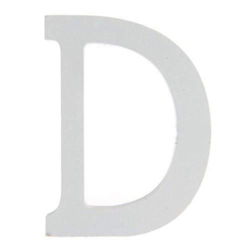 BIGBOBA Holz Buchstaben A-Z Retro DIY Dekoration für Home Coffee Shop Kleidung Store Geburtstag Party Hochzeit Weiß, Höhe 8 cm, D
