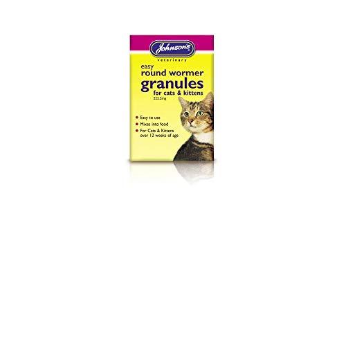 Johnsons Easy Wormer Granules For Cats & Kittens 300g - Bulk Deal Of 6x