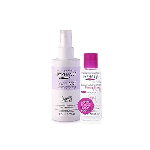 BYPHASSE - Brume visage et Solution Micellaire - FACE Mist Re-hydrating Peaux Mixtes - 150+100ml