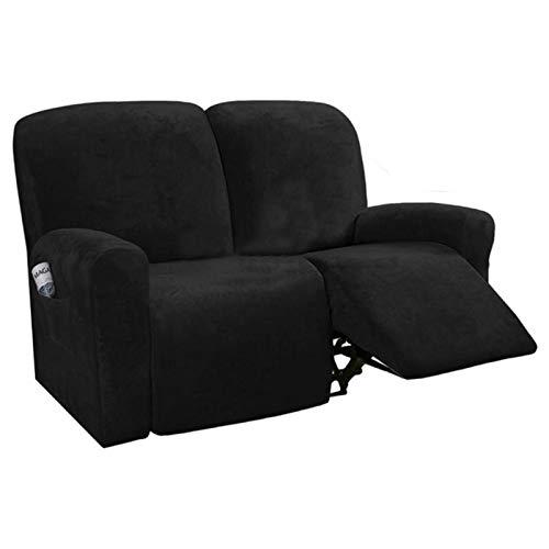 Funda de sillón reclinable para sofá de 2 plazas Sofá Todo Incluido Antideslizante Funda de sofá Funda elástica Reclinable Asiento Doble Funda de sofá-reclinable S7