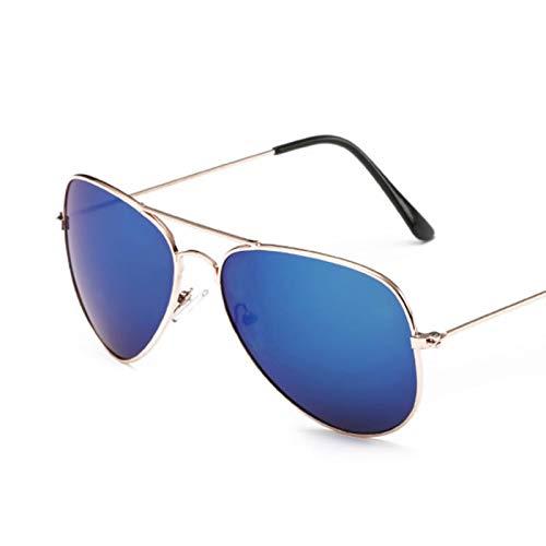 NJJX Gafas De Sol De Piloto Para Hombre/Mujer, Gafas De Sol De Aviación Clásicas Para Hombre, Mujer, Retro, Conducción Al Aire Libre, Azul