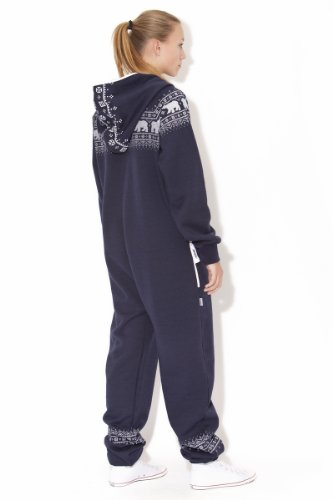 Jumpin Erwachsene Jumpsuit Original, Norwegian Bear Navy, Dunkelblau - 5