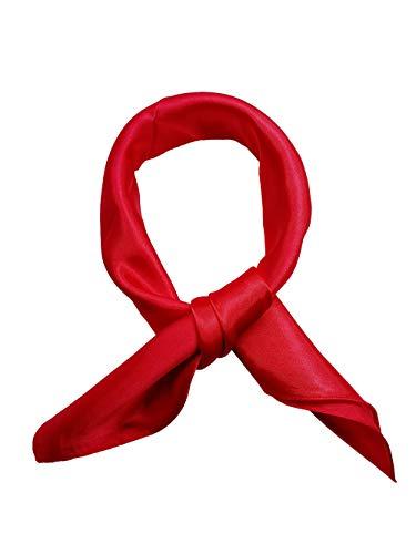 Topmode Foulard carré couleur unie 57 * 57cm (Rouge)