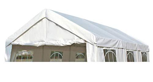 DEGAMO Ersatzdach Dachplane für Profi Partyzelt 3x6 Meter, PVC Weiss 480g/m², incl. Spanngummis …